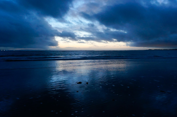 Blog. Seacsape, winter, dusk, beach, coast, Solent.