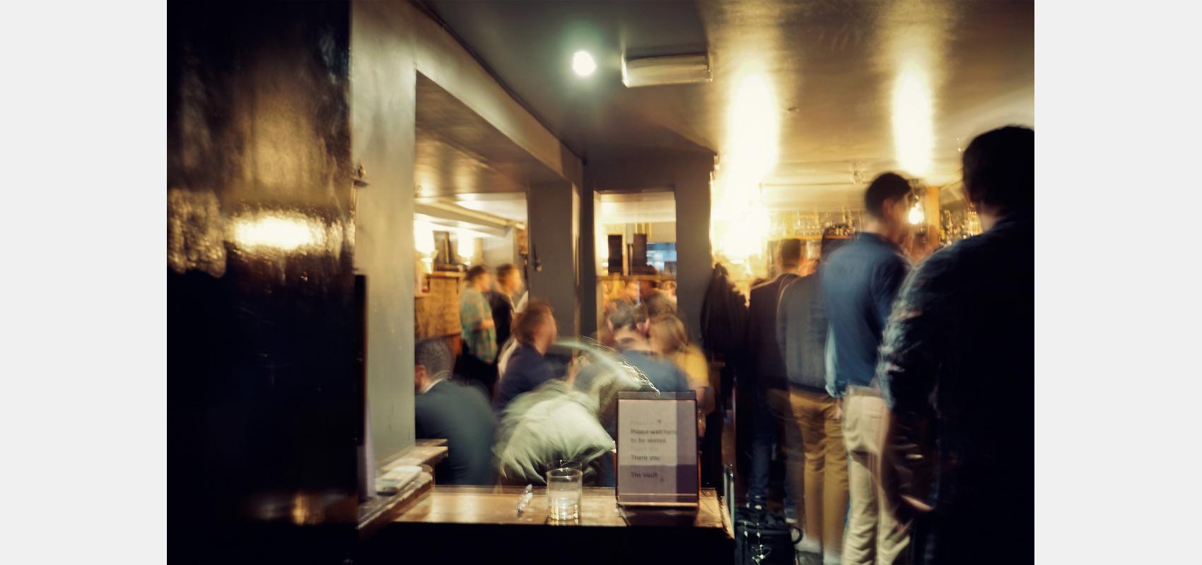 Location photography/Hidden Soho/ a full subterranean bar.