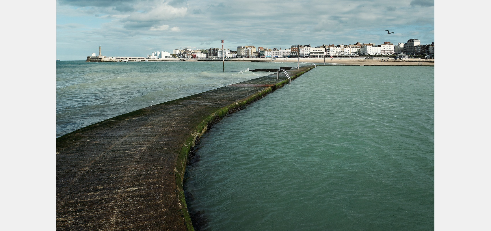 Coastal images. Margate's victorian tidal pool on the main beach front has outlasted the 20's Lido.