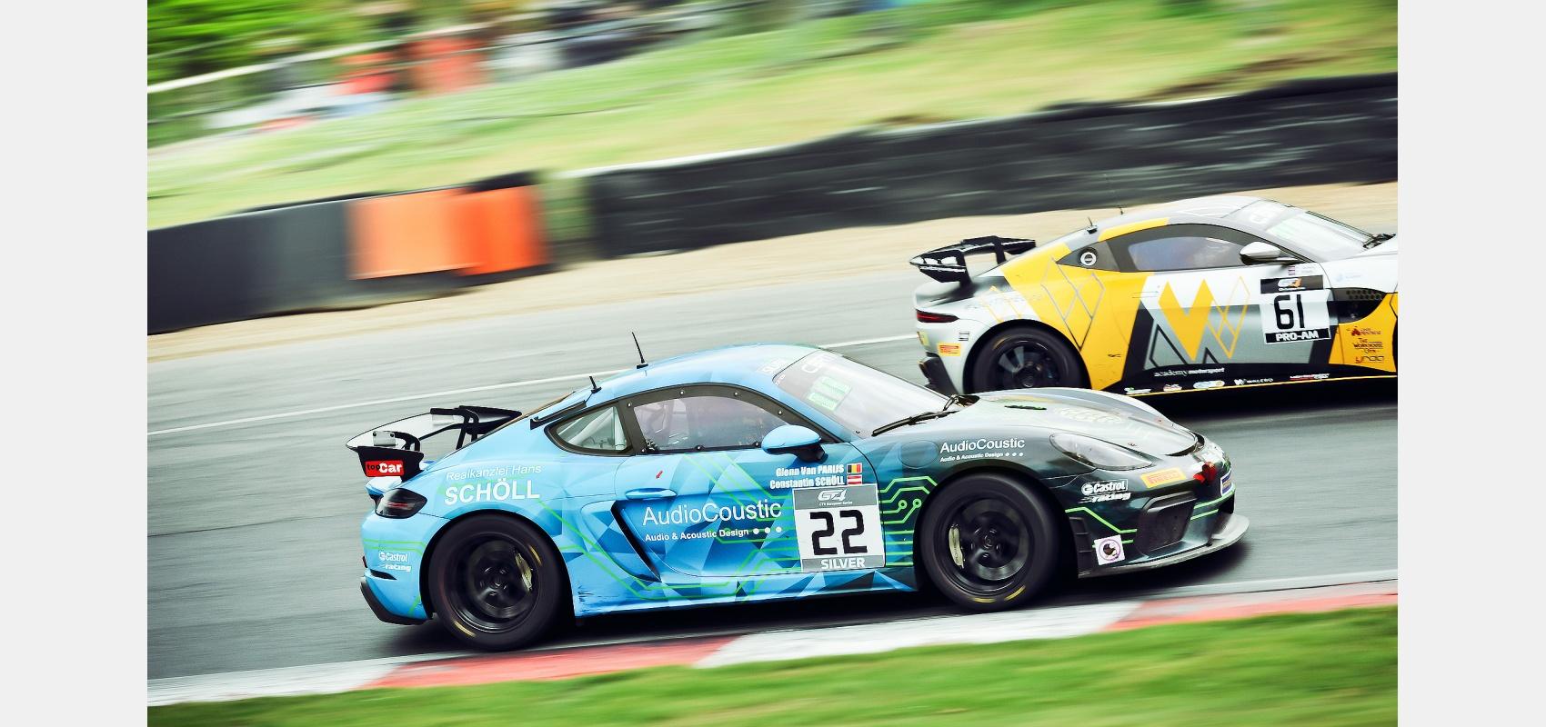 GT4 European Series. 718 Porsche Cayman & Aston Martin GT4.