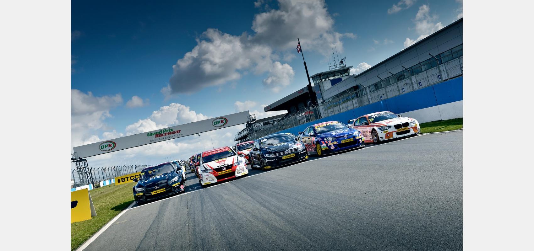 Motorsport,Launch, British, Touring, Car, Championship, BTCC, cars,  Donnington Park circuit.