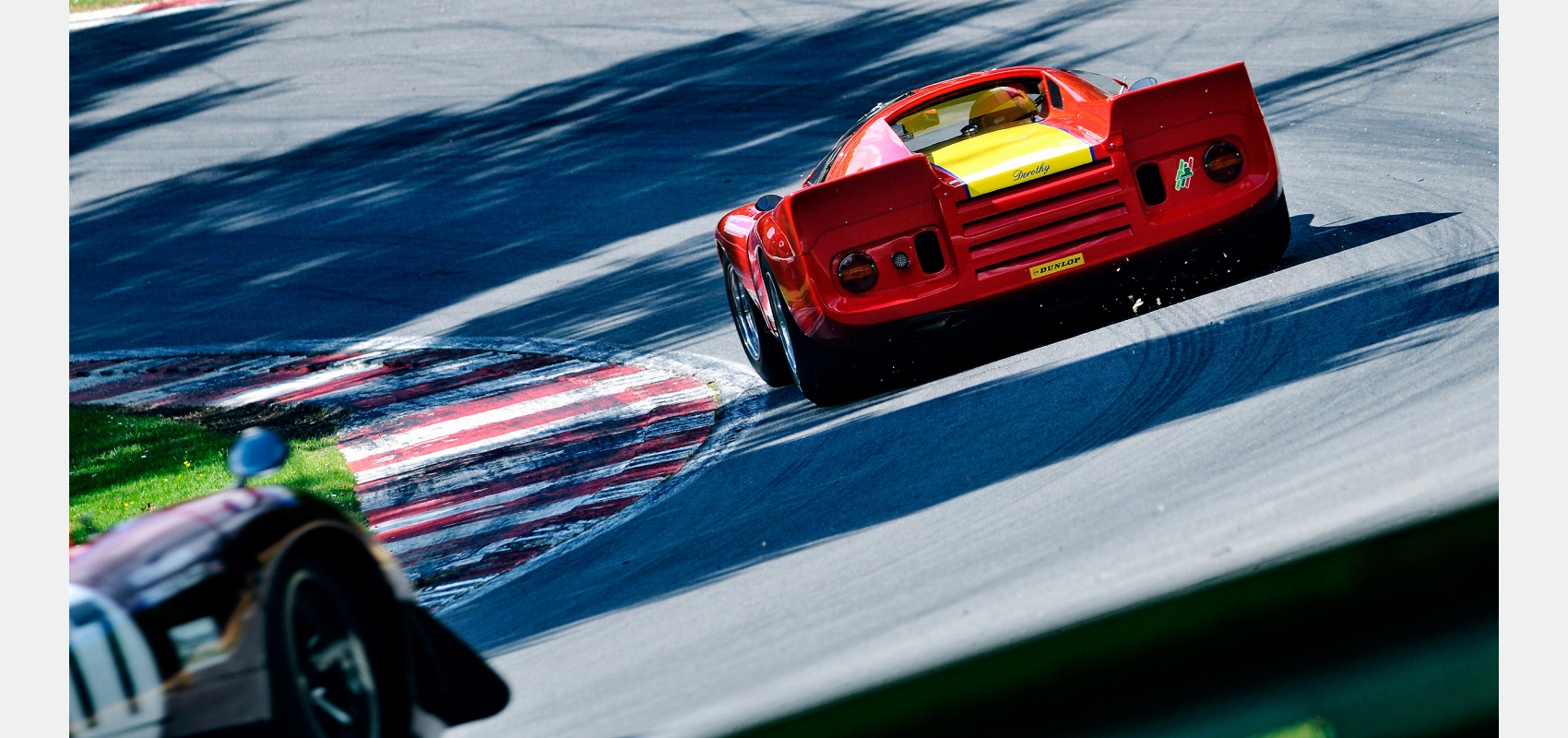 Motorsport, photography, Masters, Historic, GT, racing, series, Chevron, B16, track, corner, shadows, Brands, Hatch