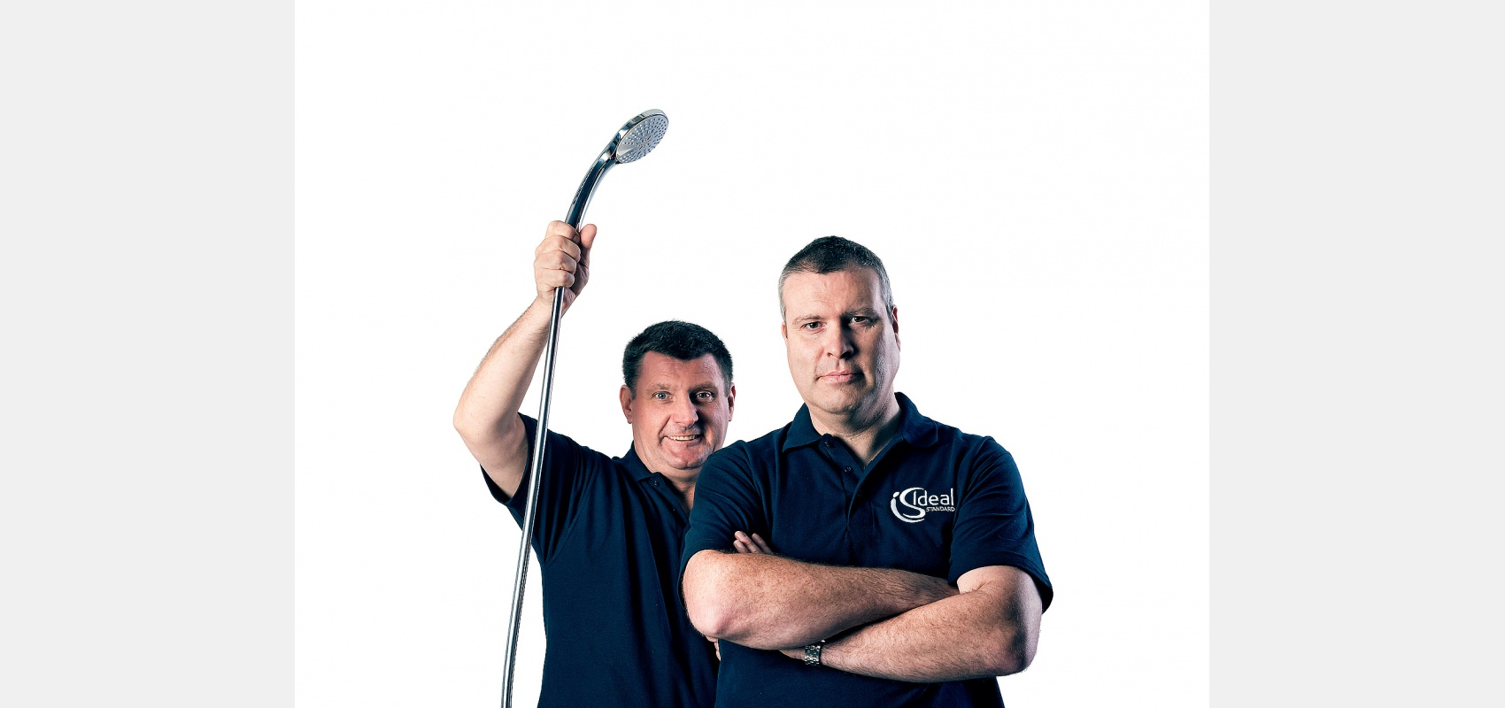 Studio portrait/real plumbers/Ideal Pro campaign.